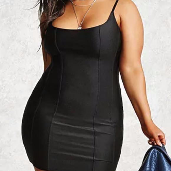 Plus Size Satin Bodycon Dress Boutique